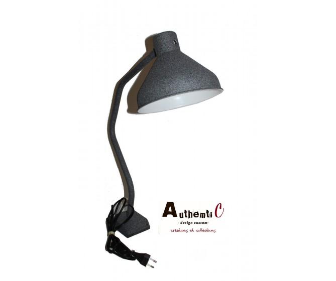 LAMPE RECUP METAL PEINTURE EFFET PIERRE GRANIT